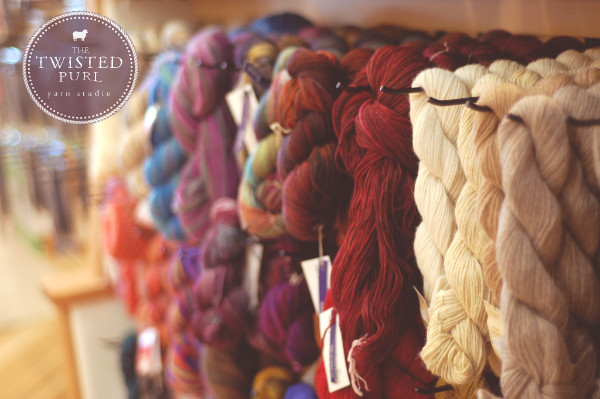 Sipping wine & choosing yarn