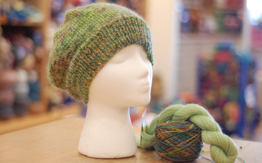Self taught knitting